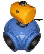 Pneumatic Actuator Remote Operted Four Way Ball Valve Manufacturer Exporter in India
