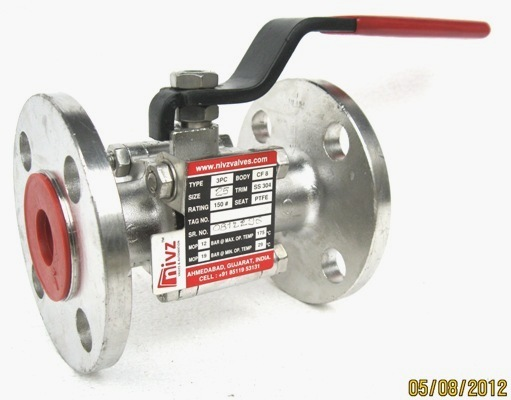 Three Piece Design Ball Valve Manufacturer Exporter Supplier Stockiest India