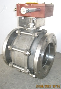 Ball Valve Three Piece Design Gear Operated Manufacturers Exporters in India