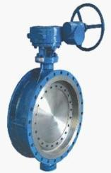 Double Flanged End Off Set Eccentric Disc Butterfly Valve Gear Operated Manufacturer Exporter India