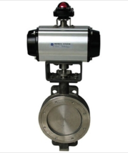 Electro Pneumatic Actuator Operated Butterfly Valve Manufacturer Exporters India